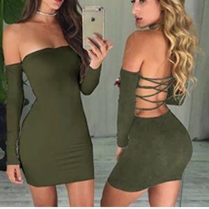 Dresses & Skirts - Off the Shoulder Lace Up Dress